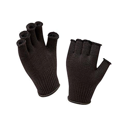 Sealskinz Mütze Fingerless Merino Wool Gloves Liner Schwarz, One size -