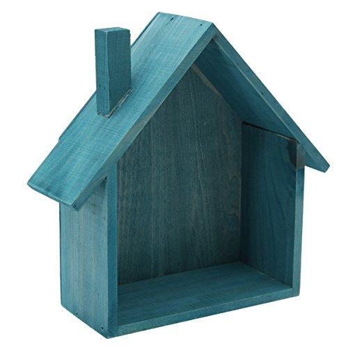 DyNamic Holzhaus Regal Display Unit Wandbehang Küche Lagerregal Box Home Dekoration - blau