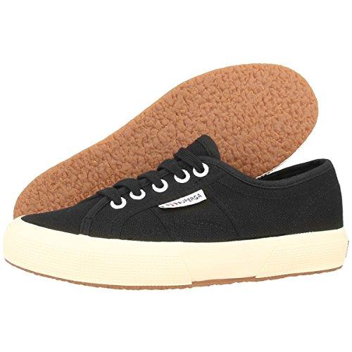 Superga 2750-jcot Classique, Sneaker Unisexe - Enfant, Blanc 18 Noir (s000010-999)
