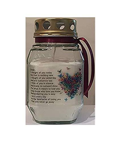 Purple Candle Memorial Vela-en Memoria de mi Hermana-Recuerdo Vela-Tumba