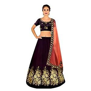 bbdce7ed1 Sale Shree Impex Women s Embroidered Velvet Lehanga Choli Set ...