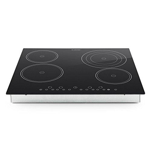 Klarstein Virtuosa Placas Cocción • Cocina vitrocerámica Empotrable • 4 Placas •...