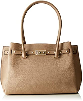 Michael Kors Large Addison Pebbled Truffle Leather Tote Bag