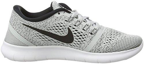 Nike Free Run, Chaussures de Running Compétition Femme Blanc Cassé (White/black/pure Platinum)
