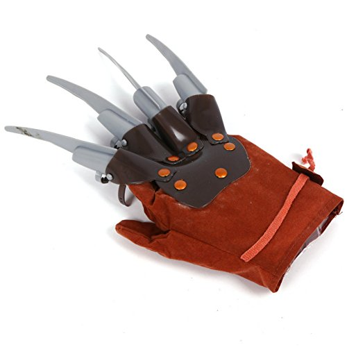 (Unisex Halloween Handschuhe mit lange Fingernägel für Erwachsener Damen und Herren Kostüm Verrückt Teufel horror Zombie für Fasching Karneval Cosplay Maskerade Dekoration Handschuhe Killer aus Plastik)