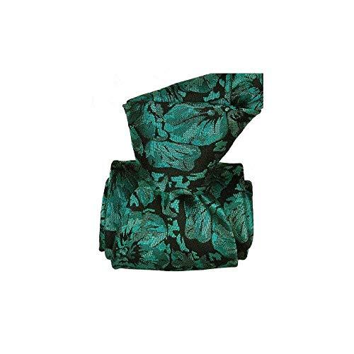 Segni et Disegni - Cravate Classique Segni Disegni Pure Soie, Pensées Turquoise