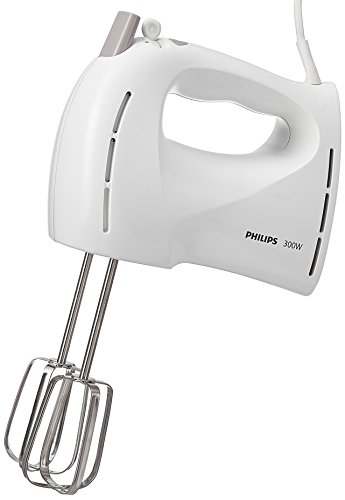 Philips HR1459/00 Sbattitore Elettrico con ganci per impasti, 300 W - Daily Collection -