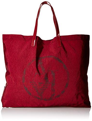 Armani Jeans922552CC861 - Borsa shopper Donna , Rosso (Rot (BORDEAUX 00176)), 55x40x9 cm (B x H x T)