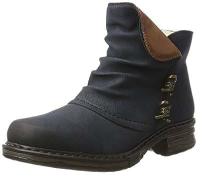 Rieker Damen Z9963 Stiefel, Blau (Pazifik/Brandy), 40 EU
