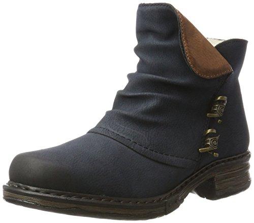 Rieker Damen Z9963 Stiefel, Blau (Pazifik/Brandy), 37 EU