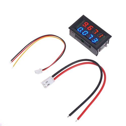 Tajie Spannungsprüfer 0,28 Zoll Digital DC 4 Bit DC 100 V 10A Voltmeter Amperemeter Spannung Strom Meter