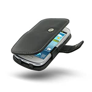 Samsung GalaxyS3 SIII Mini Leather Case - GT-i8190 - Book Type (Black) by Pdair