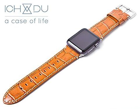 Apple Watch Armband 38mm aus Echtleder (Series 1 / Series