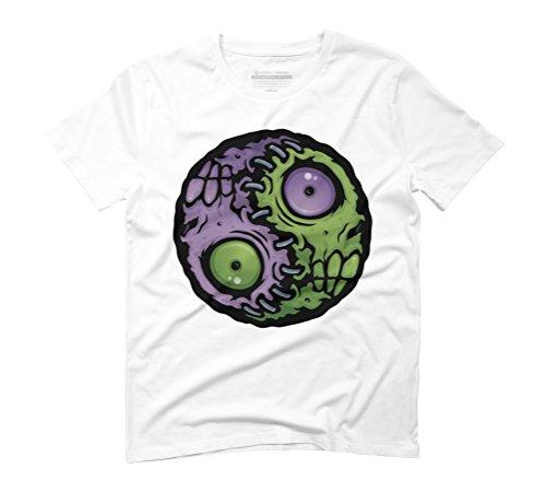 Zombie Yin-Yang Men's Graphic T-Shirt - Design By Humans White