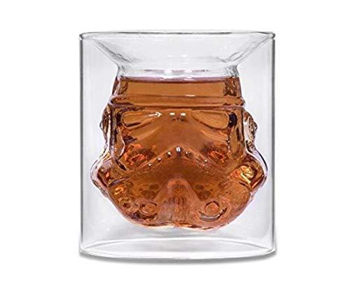 Lot de 2 verres transparents motif Stormtrooper - 150 ml