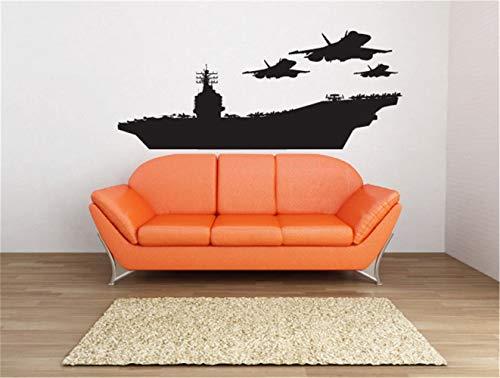 wandaufkleber sterne grau rosa wandaufkleber blumen und schmetterlinge Militärflugzeugträger-Kriegsschiff für Wohnzimmerjungenraum