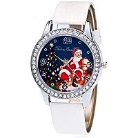 XPartner Lässige Paar Quarz Analog Armbanduhren Weihnachten Ledergürtel Uhr Santa Quarz Uhr