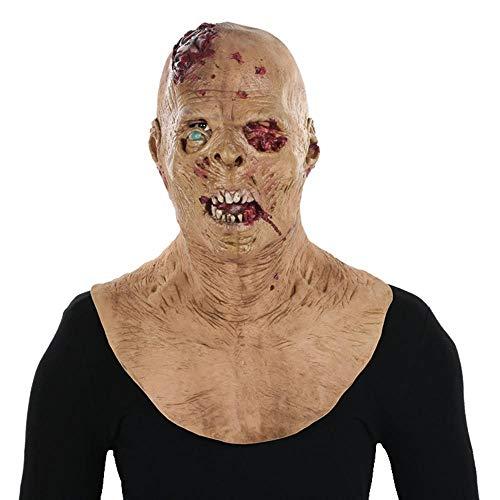 Littlefairy Maske,Halloween Mans beängstigend Alien unheimlich zombiemaske Perücke