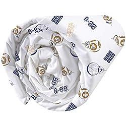 Star Wars sábana Bajera, 100% algodón, Blanco, 90x 190/200