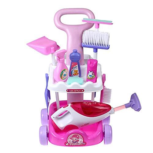 Reinigungsset für Babyspielzeug, ● Teppiche für Kehrmaschinen, Besen, Bürsten, Reinigungsmittel und Tabletten von Staub Machen Spielzeug zum Spielen, Lernen von Geschenken für Jungen und Mädchen