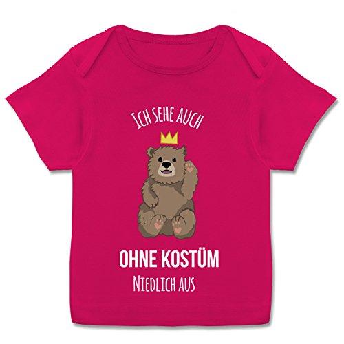 Karneval und Fasching Baby - Ich Sehe auch ohne Kostüm niedlich aus - 56-62 (2-3 Monate) - Fuchsia - E110B - Kurzarm Baby-Shirt für Jungen und Mädchen (Niedliche 60 Kostüm)