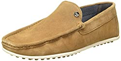Carlton London Mens Paolo Tan Leather Loafers and Moccasins - 7 UK/India (41 EU)
