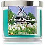 Bath & Body Works Candle 3 Wick 14.5 Ounce 2016 Edition Amsterdam Spring Tulips