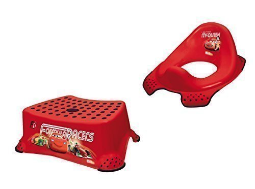 Disney Cars Ensemble de 2 Réhausseur de WC + Tabouret