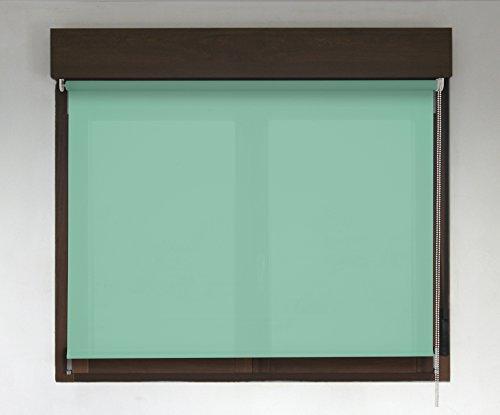Estor enrollable TRANSLÚCIDO PREMIUM (desde 40 hasta 300cm de ancho / permite paso de luz, no permite ver el exterior/interior). Color verde. Medida 130cm x 280cm para ventanas y puertas