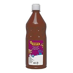 Jovi - Botella de Pintura Dedos, 750 ml, Color marrón (56212)