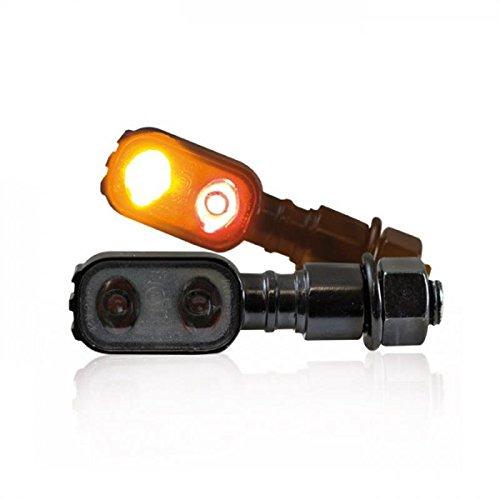 LED moto clignotant rücklichtkombi 'fluted'- noir-m10 paires de dimensions : 51 x p 17 l x 20 mm, teintées conformes