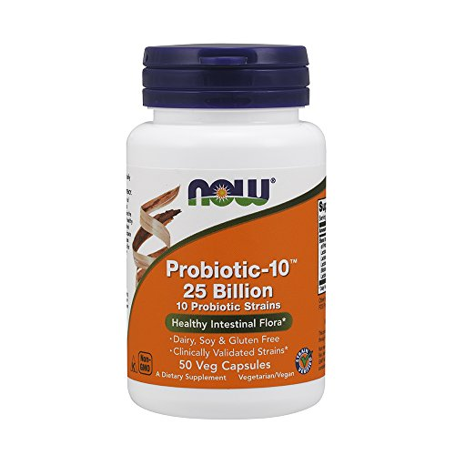 Now Foods, Probiotic-10™ 25 Billion, 50 Veg. Kapseln