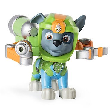 Paw Patrol : Sea Patrol – Light up Rocky – Figurine de la Pat' Patrouille Marine & Sac à Dos Lumineux