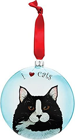 Rescue Me Now Pavilion Gift, Tuxedo Cat Ornament, 5-Inches, Includes Ribbon for Hanging by Rescue Me Now