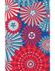 Rot, Weiß und Blau Sterne Vinyl Tischdecke Flanell Rückseite 52
