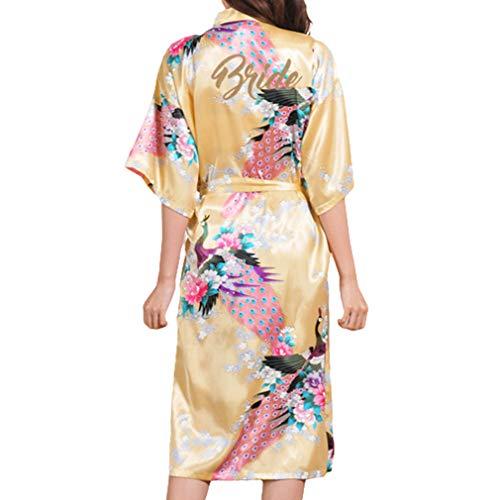 Juleya Floral Braut Robe Feste Braut Robe Weibliche Kimono Robe Kleid Neue Satin Nachthemd Nachtwäsche Blume Pyjamas