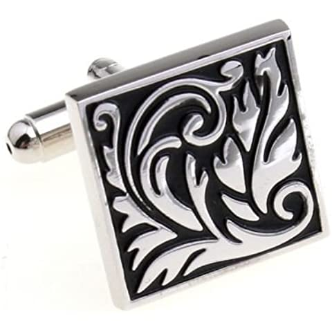Mixed Silver Square Leaf polsino di design