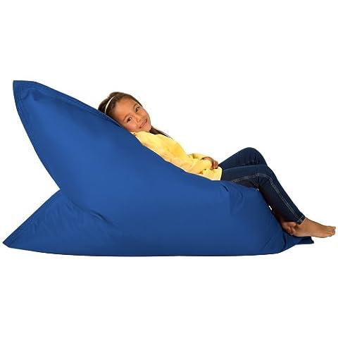 Hi-BagZ KIDS Bean Bag 4-Way Lounger - BLUE Bean Bags Outdoor Floor Cushion - 100% Water resistant Childrens Bean