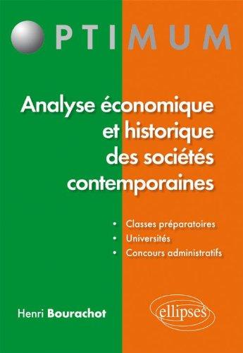 Analyse économique et historique des sociétes contemporaines