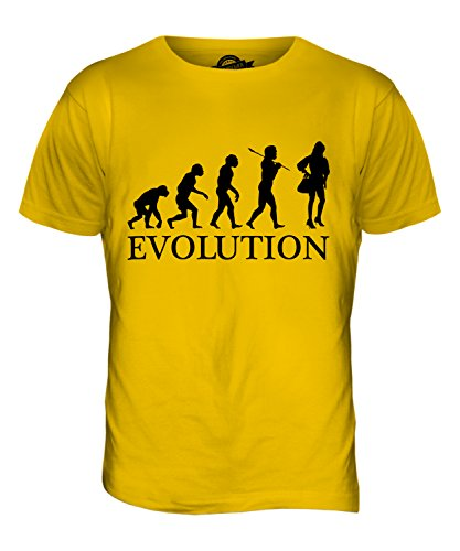 CandyMix Mode Evolution Des Menschen Herren T Shirt Dunkelgelb