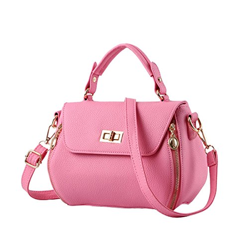 emotionlin-womens-bow-knot-designer-style-cowry-shoulder-handbag-top-handle-bagpink
