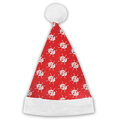 Voxpkrs Red Ladybug Adults&Children Christmas Santa Claus Hat Party Supplies Holiday Theme Hats Costume Xmas Decoration