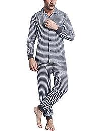 Amazon.it  camicia da notte con bottoni - Uomo  Abbigliamento 40186c27d4c