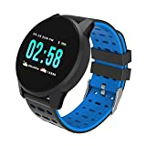 Intelligente Uhrsport Armband Rundsieb Armband Farbsieb Herzfrequenz Blutdruckmessung Sport High End Fashion Geschenk Blau