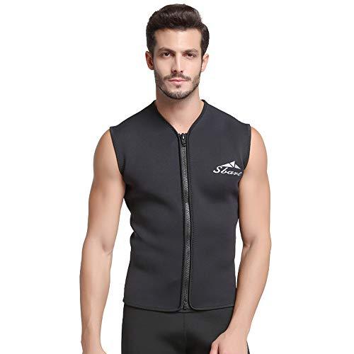 bf5b2faebdbb Diving Suit Top de Traje de Neopreno para Hombre, Traje de Neopreno de 5  mm, Chaleco de natación Chaleco cálido Traje de baño para Hombres Chaqueta  de ...