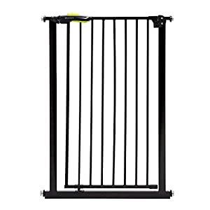 Venture Q-Fix Extra Tall Pressure Fit Pet Safety Gate | 75-84cm Wide, 110cm Extra Tall | Unique 90° Two Way Open/Stay Door, Auto Close Fuction (Black, 75-84cm) Dog Gate   13