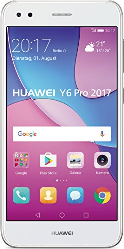 Huawei Y6 Pro 2017 Smartphone (12,7 cm (5 Zoll) IPS-Display, 16 GB Speicher, Android 7.0) Silber