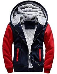 Los Hombres de otoño Invierno Espesan con Capucha Sudaderas Abrigos, suéter Chaqueta con Manga Larga