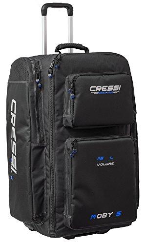 Cressi Moby 5 Bolsa de Buceo, Unisex Adulto, Negro / Azul Logo, Talla