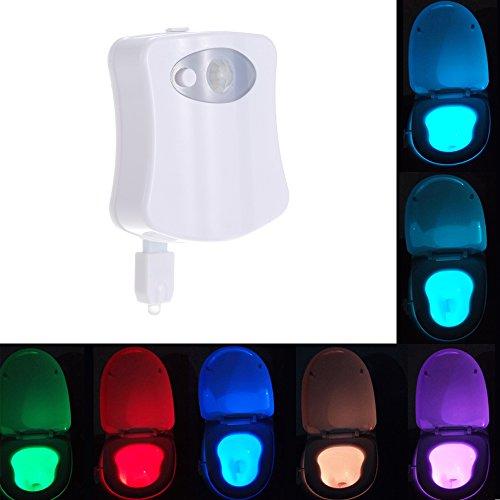 Ritioner L1420 8 Colores 4.5V 0.1W LED WC luz Nocturna